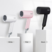 Para xiaomi mijia smate sha100 mini anion secador de cabelo íon negativo cuidados com o cabelo difusor secagem rápida viagem portátil dobrável