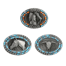 Western Cowboy Rodeo Belt Buckle Mens Womens Bohemian Style Accessory