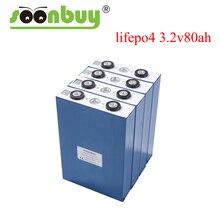 4PCS Grade A 3,2 V 80Ah lifepo4 batterie 2020 NEUE CALB 4S 12v80ah zellen nicht 100Ah 120AH für pack EV Marine RV Golf EU STEUER FREIES