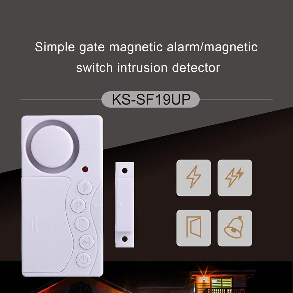 New Simple Door Magnetic Burglar Alarm Doorbell Alarm Four-In-One Function Door Magnetic Small Doorbell Alarm Dropshipping Hot