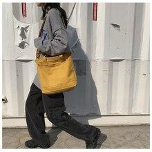 2020 new canvas bag female simple shoulder bag messenger bag simple design fashion female bag
