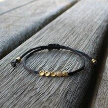 Милый медведь модный Тибетский медный браслет из бисера для мужчин и женщин простой Регулируемый хороший счастливый браслет дружбы и браслеты Подарки для любимых