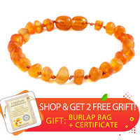 100% Genuine Raw Amber Bracelet for Adults Raw Baroque Beads Baltic Natural Amber Women Necklace Organic Jewelry Amazon Supplier