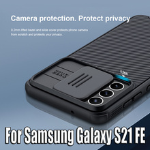 For Samsung Galaxy S21 FE durumda NILLKIN CamShield Pro Lens koruma muhafaza For Samsung Galaxy S21 FE telefon kapak