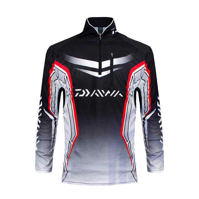 Marca daiwa roupas de pesca masculina manga longa camisas ao ar livre respirável secagem rápida anti-uv vestuário colete esportivo