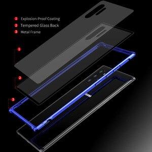 Image 4 - Armure métal pare chocs étui pour Samsung Galaxy Note 10 10 Plus étui 9H verre trempé couverture arrière rigide pour Samsung Note 10 Plus Coque