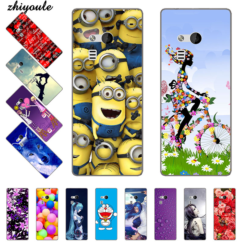 Fashion for <font><b>Nokia</b></font> 216 Printing <font><b>Case</b></font> Cover for <font><b>Nokia</b></font> 216 <font><b>230</b></font> Colorful Soft TPU Back Cover Animal Cell Phone Shell Cartoon Rose image
