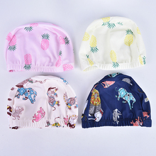 HOT!Waterproof Hot Children Elastic Cartoon Printed Swimming Caps Sports Pool Cute Swim Hat for Kids/Boys/Babys