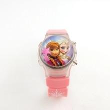 Elsa girl children's watch with a flashing light on the frozen cartoon frozen st