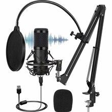 Kit de micrófono BM800 de 192KHZ/24 bits, equipo profesional de Podcast BM 800, micrófono condensador para Karaoke de PC, Youtube, grabación de estudio