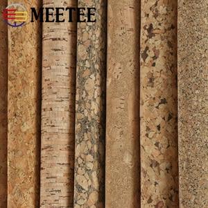 Meetee 90X137cm 0,5 мм Толстая натуральная пробковая кожа, ткань, сделай сам, сумки, обувь, чемодан, ручная работа, дерево, зерно, Декор, материал