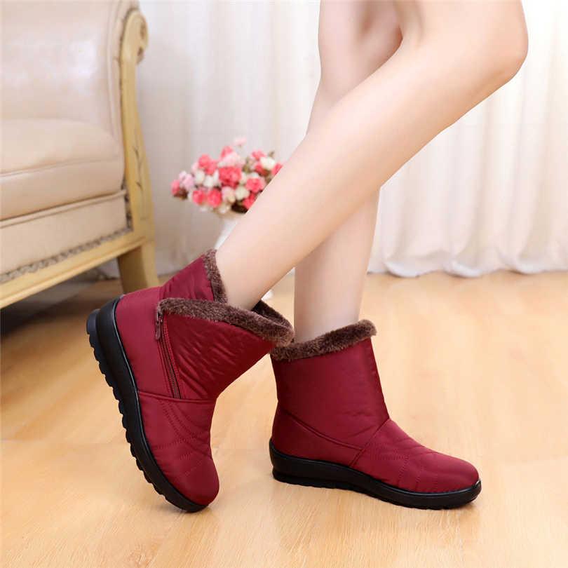 Kadın botları su geçirmez ayak bileği kar botları kış iş ayakkabısı tutmak sıcak kürk kadın ayakkabısı açık peluş ayakkabı Martin Bootie yeni A40