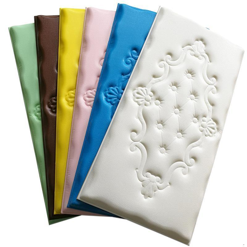 Letto Anti-collision Furniture Headboard Cushion Children 3D Wall Sticker Pared Cabecero Cama Bed Tete De Lit Head Board