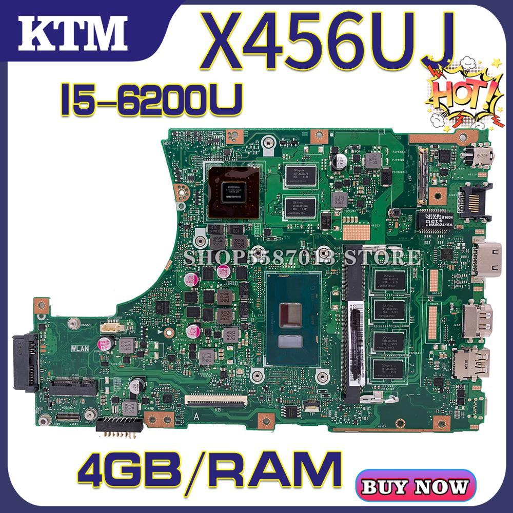 X456U For ASUS F456U X456UV X456UJ X456UVK X456UB Laptop Motherboard X456UQK Mainboard Test OK I5-6200u Cpu Gt920m/2gb 4GB-RAM