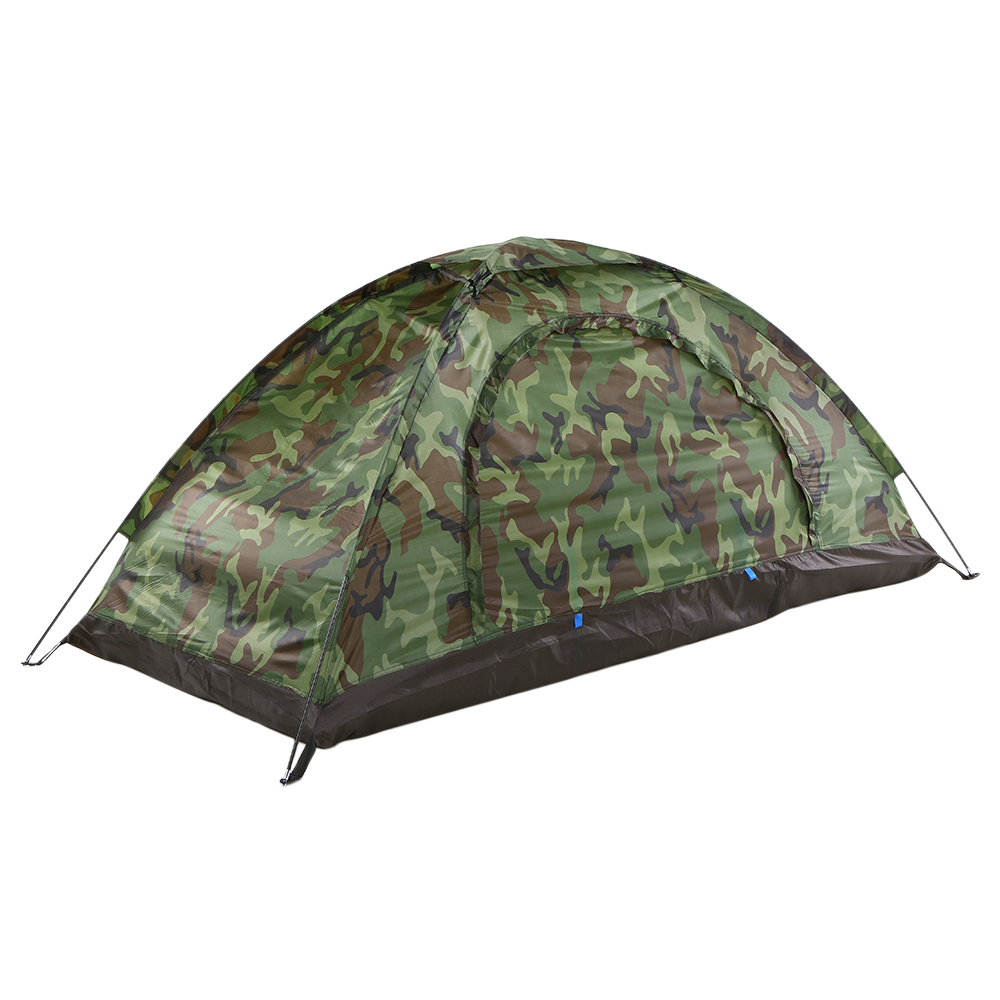 TOMSHOO Portable Outdoor Camping Tent Camouflage 1/2 Person Tent Double Layer Waterproof Outdoor Hiking Traveling Tent image