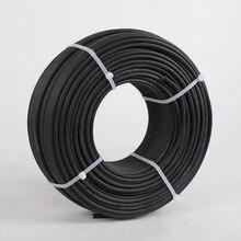 Фотоэлектрический кабель, 100 метров/рулон 1x6sq мм, черный и красный цвет, опциональный медный провод 10AWG, кабель на солнечной энергии для разъема MC3