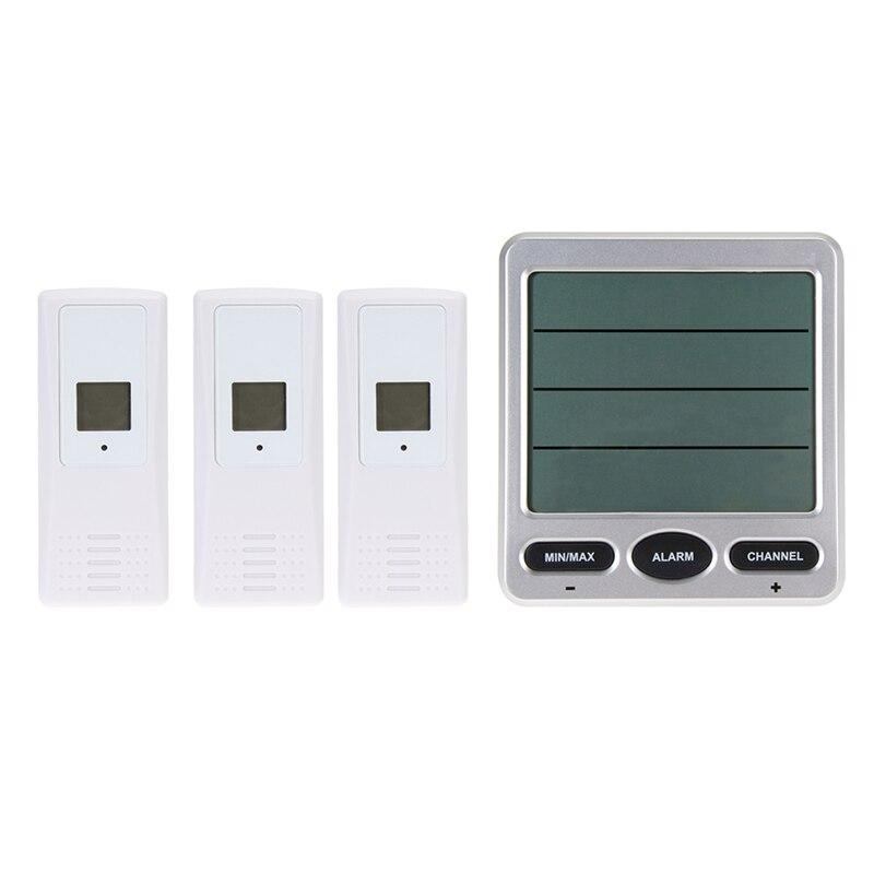 Thermomètre numérique Lcd sans fil hd-température ambiante humidité intérieure/extérieure Thermo hygromètre à 8 canaux