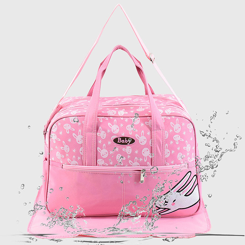 Maternity Bag Mat With Baby Diaper Bag Mummy Stroller Maternity Nappy Bags Sets Print Nursing Handbags Waterproof 42*18*30cm Hot