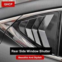 QHCP persiana para ventana lateral de coche, persiana triangular, parasol trasero, para Lexus IS300 200T 250 2013 2014 2015 2016 2017 2018 2019