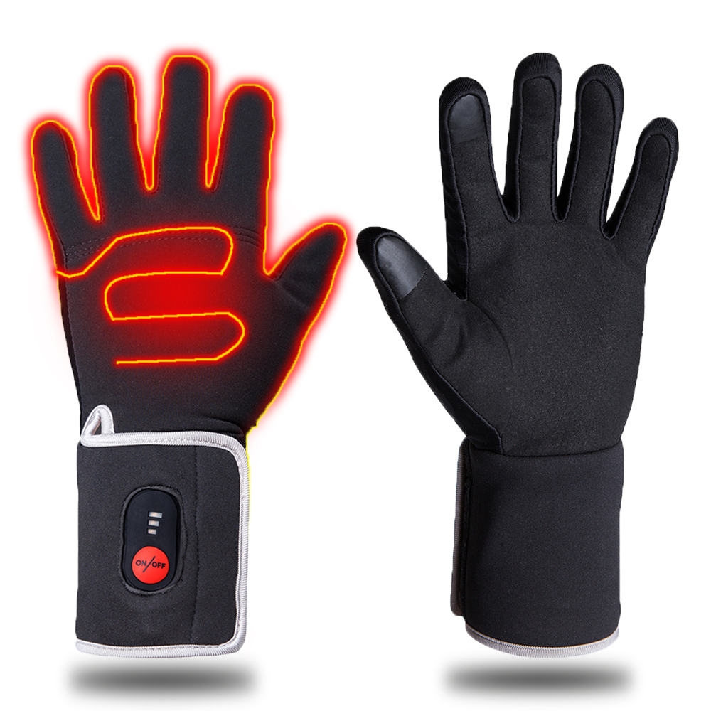 Men Women Winter Warm Heated Gloves Outdoor Skiing Riding Heating Gloves Electric Moto Gloves Windproof Touch