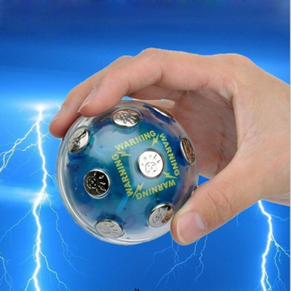 Entertainment Shock Ball Neutral Plastic Case With Metal Contacts Tricky Electric Ball Vent Electronic Toys Hot!