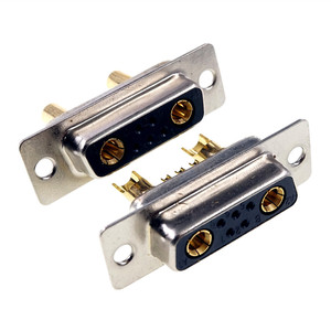 Image 2 - D conector Sub 30 AMP Actual 7 posición 5 + 2 Combo receptáculo hembra clavija mecanizada 7W2 oro montaje en Panel de alambre de soldadura