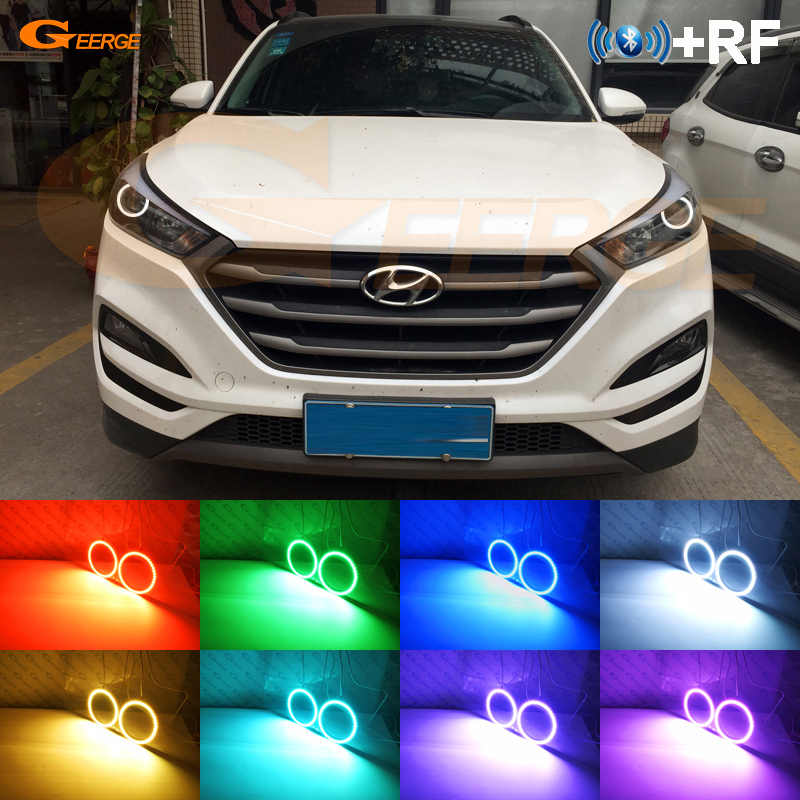 Rf Afstandsbediening Bluetooth App Multi-color Ultra Bright Rgb Led Angel Eyes Voor Hyundai Tucson Tl 2015 2016 2017 2018 Een Projector
