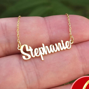 Stainless Steel Choker Custom Name Necklace Personalized Jewelry Men Handmade Nameplate Pendant Necklaces For Women Friend Gift