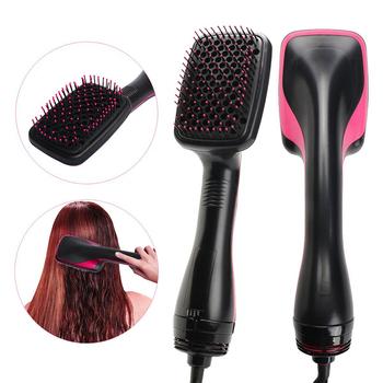 Suszarka do włosów profesjonalna suszarka nadmuchowa fryzjer gorący rozpylacz One Step suszarka do włosów i suszarka do włosów suszarka do włosów GH32 tanie i dobre opinie CN (pochodzenie) 37 6*11 2* 8 4CM Hairdryer brush for hair Professional hair dryer Hair blower brush blow dryer hair dryer brush rotating