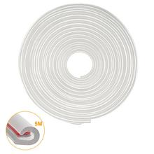 5M/Lot Car Door Edge Guards Clear Rubber Scratch Protector Replace Moulding Strips Sealing Anti-rub Universal