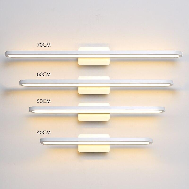 Black/white art Modern led mirror light 40 70cm Anti fog bathroom light fixture AC220V 110V wall lamp wall mounted bathroom lamp|LED Indoor Wall Lamps| |  - title=