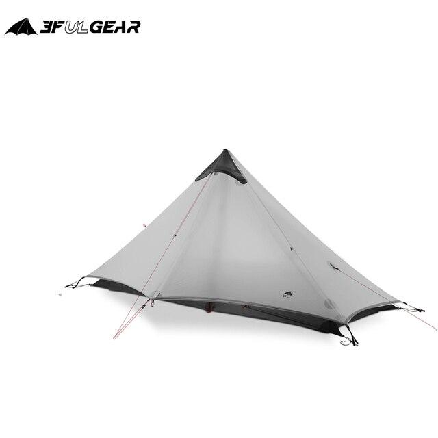 3F UL GETRIEBE LanShan 1 Outdoor Ultraleicht Camping Zelt 1 Person 3 Saison Professionelle 15D Silnylon LanShan1 Kolbenstangenlosen Zelt