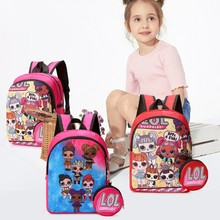 L.O.L. SURPRISE! School Backpack L.O.L Dolls Bag Toddler Girl Rucksack Kids Mini Knapsack Cartoon Printed Casual Student Schoolb