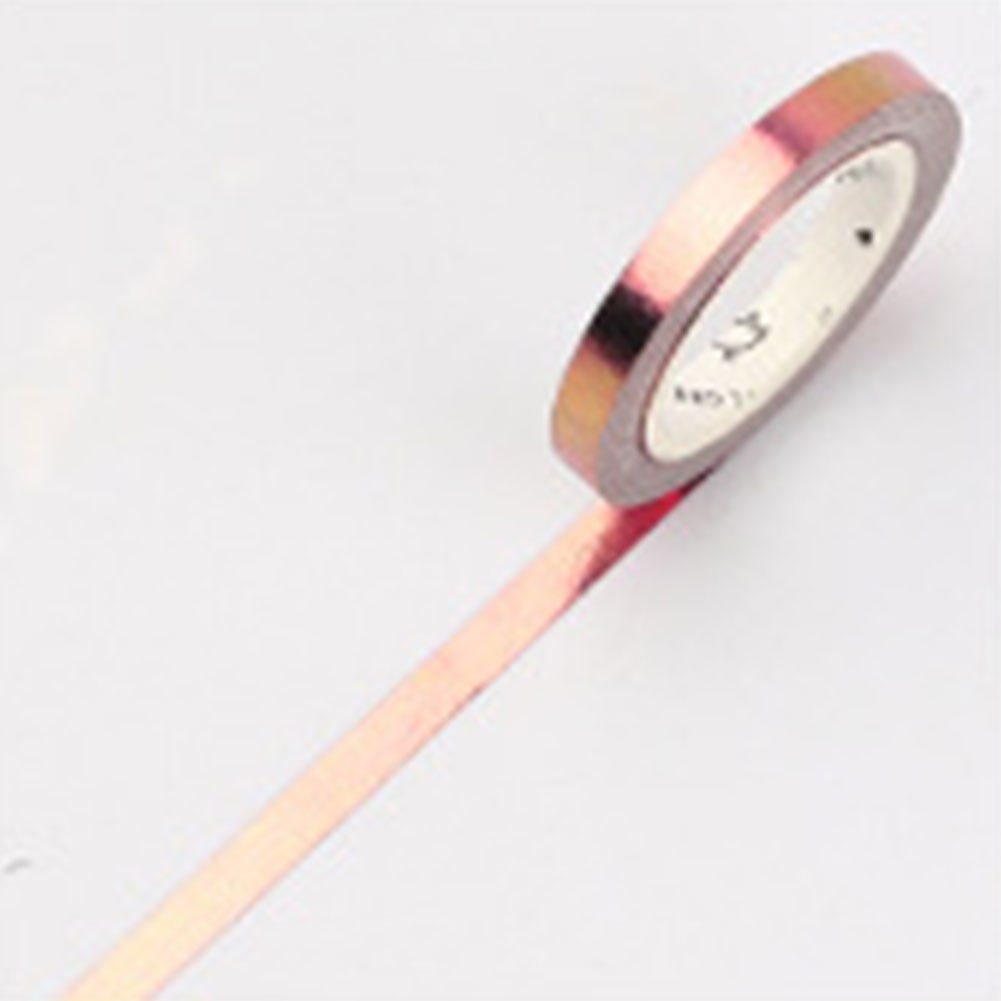 DIY Washi Tape Mini Ultra Slim Stationery Hot Stamping Reusable Office Schedule Book Decorative Adhesive Sticky Masking School