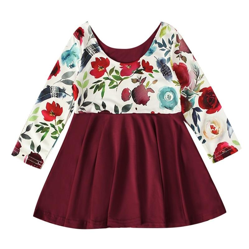 MOMKER Children Kids Girls Sleeveless Dance Party Floral Print Princess Dress Clothes
