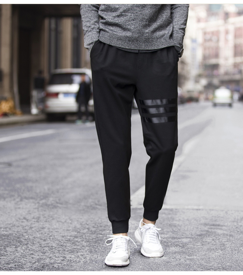 Online Celebrity Capri Pants Men's Autumn Thin Men's Harem Pants Athletic Pants Men's Casual Pants Loose Ankle Banded Pants Clos