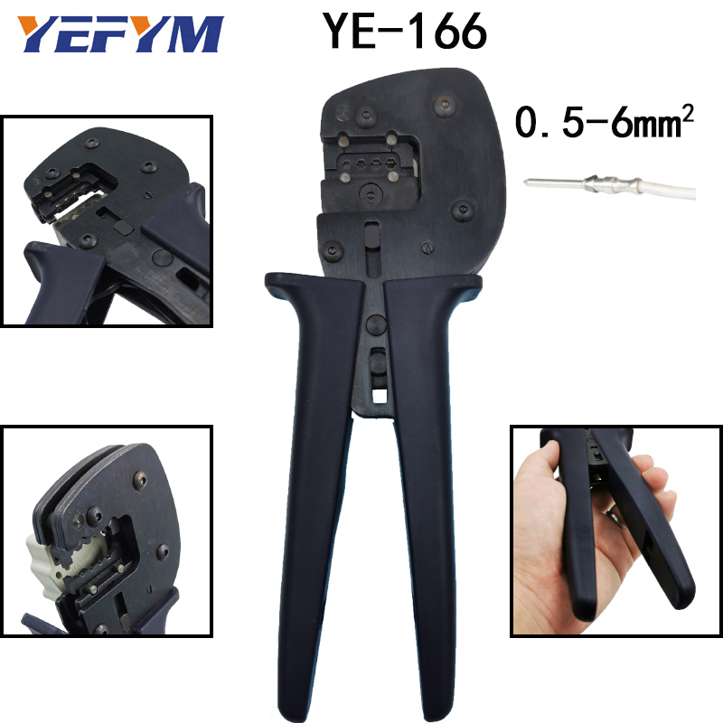 Aviation terminal crimping pliers tools Harting Hardin pin YE-166 heavy duty connector Automatic adjustment of crimp depth tools