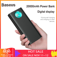 Baseus 20000mAh Power Bank 18W PD3.0 + QC3.0 Fast Charger For Xiaomi Huawei iPhone X Portable Outdoor Charger Travel Power bank