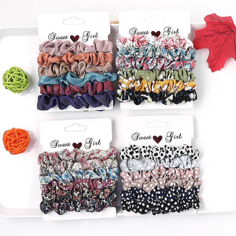 4-6 Stks/partij 2019 Eenvoudige Basic Elastische Haarbanden Chouchou Paardenstaart Houder Rubber Band Haar Banden Voor Meisjes Vrouwen haar Accessoires