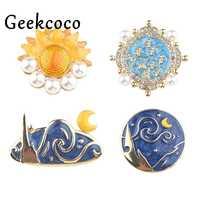 10 unids/lote Van Gogh classic Zinc Alloy pins mochila pride clothes medalla para bolsa hat insignias broche para hombres mujeres J0751