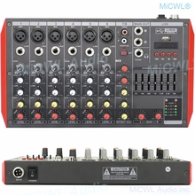 8 Channel MG8 Bluetooth Mixer Sound Mixing Console Portable Karaoke Music Computer Live Mixer 7-Band EQualizer