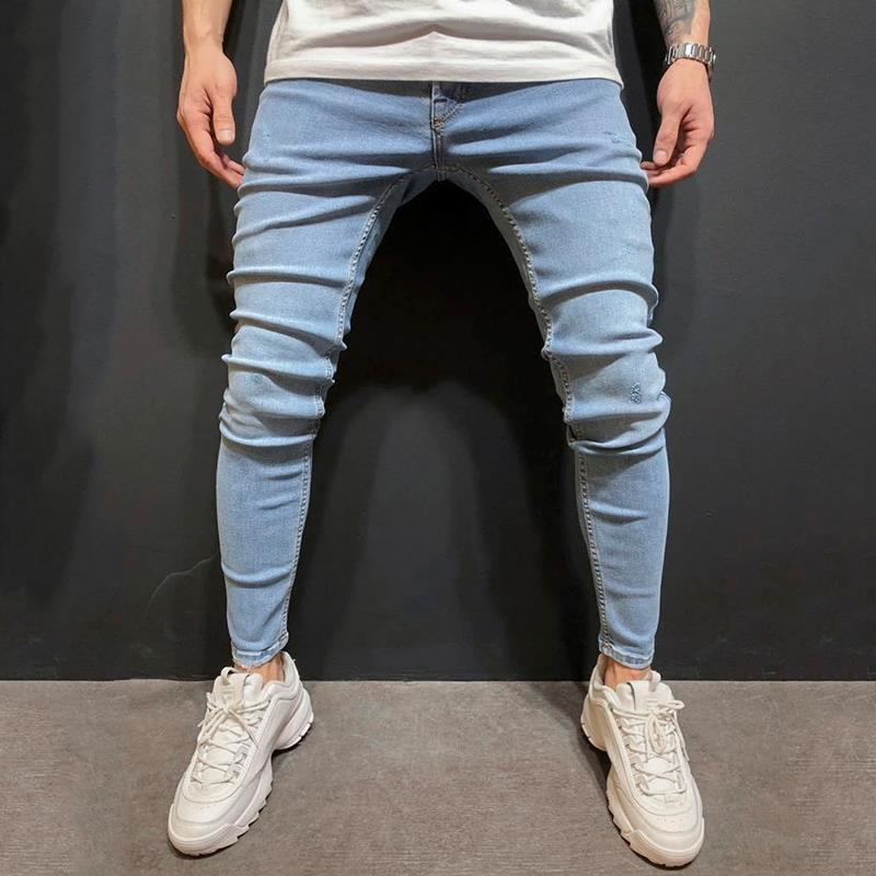 Mens Skinny Jeans 2020 Super Skinny Jeans Men Non Ripped Stretch Denim Pants