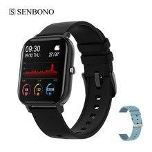 Senbono p8 smartwatch ip67 à prova dip67 água relógio inteligente feminino relogio inteligente relógio masculino apoio freqüência cardíaca rastreador de fitness