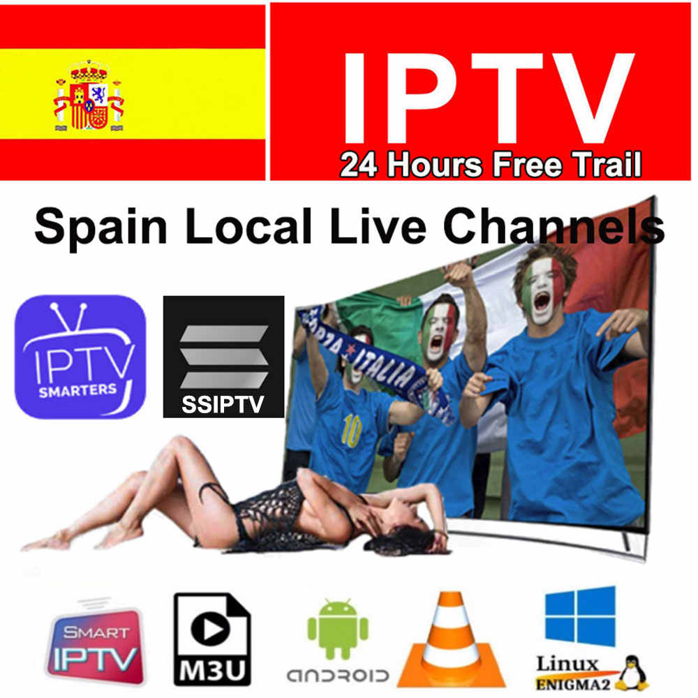Premium 1 an IP TV abonnement IPTV espagne M3u Local TV en direct DAZN Movistar adulte XXX pour TV Box Smart IPTV SMARTERS VLC SSIPTV