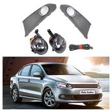 VW Polo Vento Sedan Saloon 용 자동차 라이트 2011 2012 2013 2014 2015 2016 안개등 안개등 안개등 커버 및 하네스 어셈블리