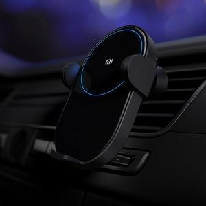 Image 5 - 100% Xiao mi mi 20W Max Qi chargeur de voiture sans fil WCJ02ZM avec capteur infrarouge Intelligent charge rapide voiture support pour téléphone