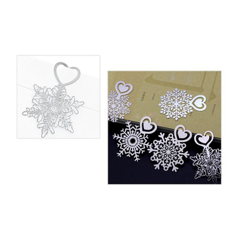 Snowflake Bookmarks Stainless Steel Merry Christmas Book Page Marker Metal Flower Bookmark 1