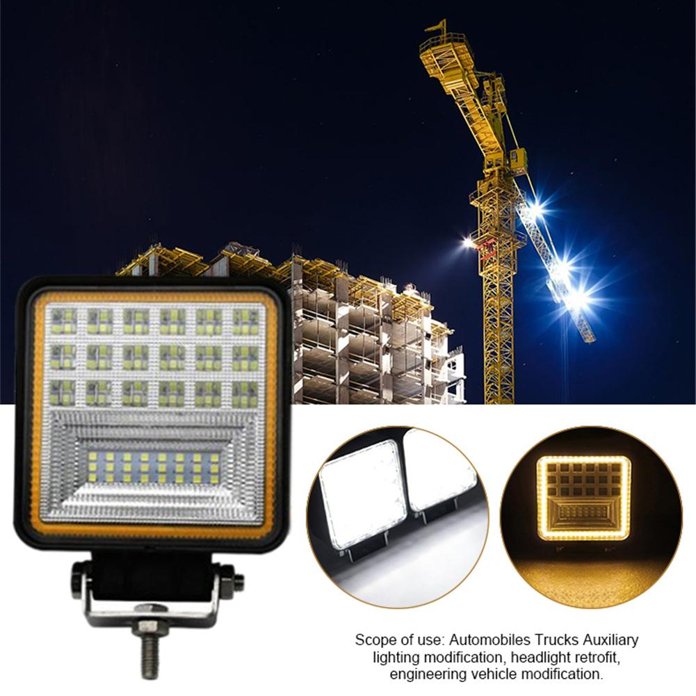 126W 45MM Car Led Work Light Auxiliary Spotlight Motorcycle Fog Lamp Truck Forklift Lamp Square With Aperture Lighting