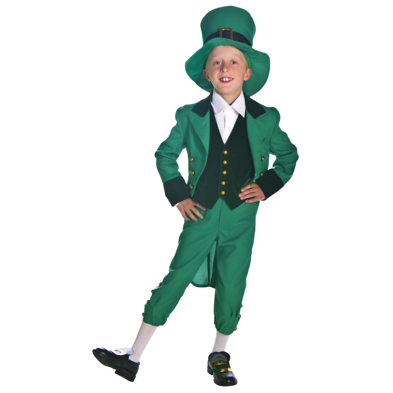 Children Ireland Green Elf St. Patrick's Day Nation Folk Custom Holiday Carnival Party Game Clothing