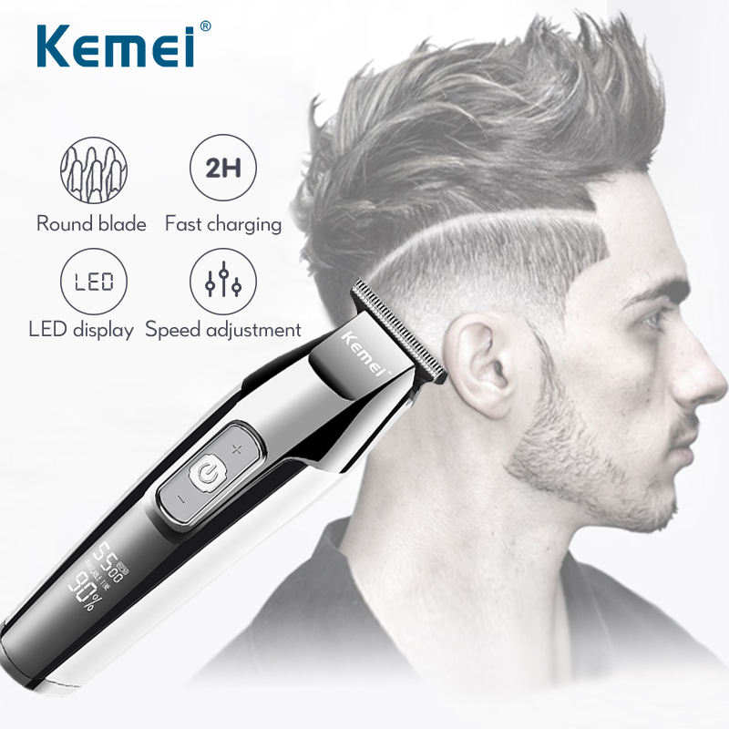 Professional Hair Clipper Multifunctional Cordless Beard Trimmer Electric Haircut Machine With LCD Digital Display Shaver 45D